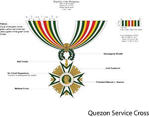 Quezon Service Cross - Quezon Service Cross diagram