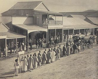 Cooktown, Queensland - A visit of Chinese Commissioners to Cooktown in 1887.