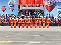 ROCA Dragon Team Crew Salute to ROCAF Commander General Liu on Review Stand 20130601.jpg