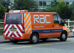 Roadside assistance - United Kingdom RAC roadside assistance van