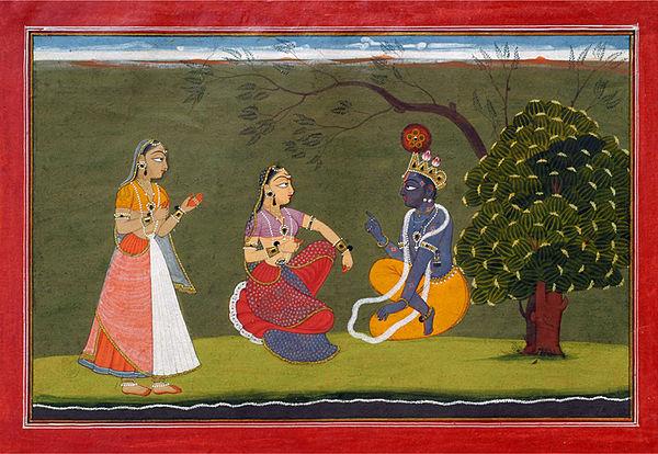 बसोहली चित्र (1730 ई) गीत गोविन्द