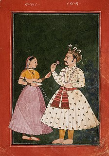 Kunti Character from Indian epic Mahabharata