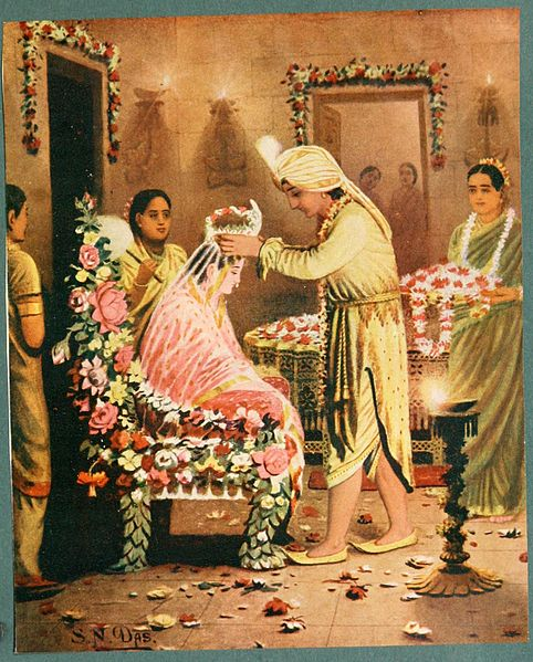 ឯកសារ:Rama placed a flower crown on head of sita.jpg