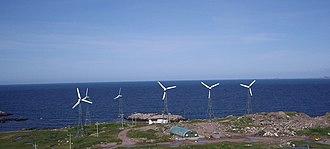 Wind hybrid power systems - Wind Diesel system on Ramea in Canada