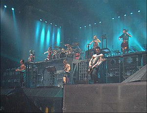 Apocalyptica - Apocalyptica performing with Rammstein in Milano in 2005.