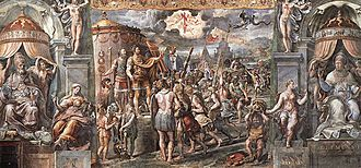 Bishops of Rome under Constantine I - Raphael's The Vision of the Cross depicts a cross instead of the Chi Rho.