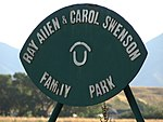 Ray Allen & Carol Swenson Family Park sign, Jul 15.jpg