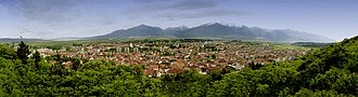 Razlog - View of Razlog and Pirin mountains