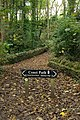 Re-routed coast path sign, Durlston Bay - geograph.org.uk - 1027152.jpg