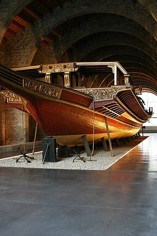 La galère royale de Jean d'Asturies au musée maritime de Barcelone. Photo © José Luiz Bernardes Ribeiro / CC BY-SA 3.0