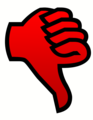 Red Thumbs down.png