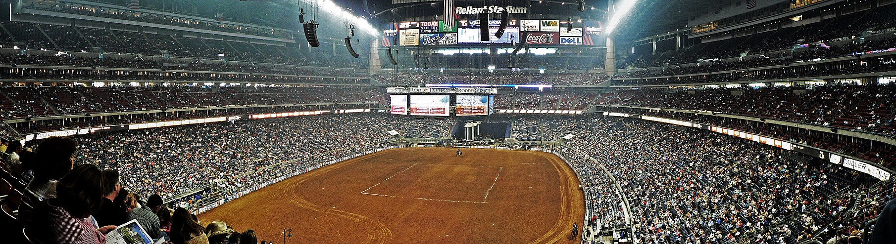 The annual Houston Livestock Show and Rodeo held inside the NRG Stadium Reliant Stadium Houston Rodeo.jpg