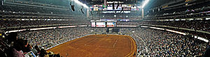 Houston Livestock Show and Rodeo - Reliant Stadium filled with rodeo attendees at the 2006 HLSR
