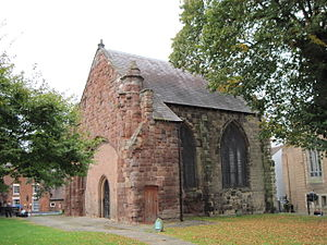 Samuel Chidley - Remains of old St Chad's, Shrewsbury. The present church, on a different site, was built after the medieval building collapsed in 1788.
