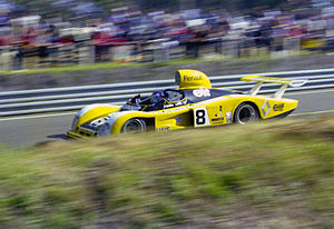 Renault Alpine A442 - Patrick Depailler driving a Renault Alpine A442 in the 1977 24 Hours of Le Mans race