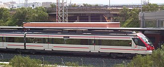 Renfe Operadora - A new Cercanías Civia unit near Puerto Real (Cádiz).