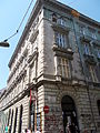 Residential building. Monument ID 11517. Holló Street's facade - Budapest District VII. Dob Street 20 and Holló Street 2.JPG