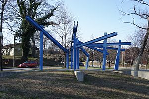 Reynoldstown, Atlanta - Gateway Park - sculpture (design Brett J Harris)