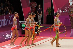 Rhythmic gymnastics at the 2012 Summer Olympics (7915027050).jpg