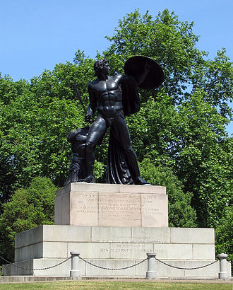 Richard Westmacott - Statue of Achilles (1822) on the Wellington Monument at Hyde Park Corner, London.
