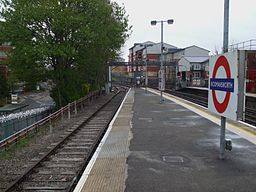 Rickmansworth station former steam bay look south