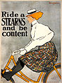 Ride a Stearns and be content, bicycle advertising poster, 1896.jpg