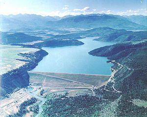 Uncompahgre River - Ridgway Dam and Reservoir on the Uncompahgre River