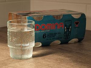 Riihimäki glass - 20-centilitre tumblers from Riihimäen Lasi's 'Domina' series.