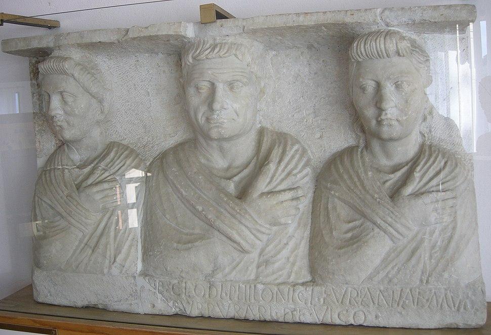 Rilievo funerario di p. clodius philonicus, 70-100 dc.