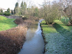 River Ingrebourne - Looking north from the bridge on Berkeley Drive