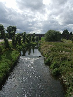 River Penk upstream at Penkridge - geograph.org.uk - 1443825.jpg