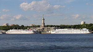 River cruise ships in North River Port 9-jun-2012 02.JPG