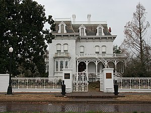 """William P. Halliday - Riverlore Mansion is a stately white French Second Empire Style Mansion built in Cairo, Illinois on """"Millionaire's Row"""". Riverlore is an 11-room brick home built in 1865 by Captain William Parker Halliday, a prominent Cairo businessman and riverboat captain."""