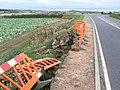 Road subsidence - geograph.org.uk - 1557619.jpg
