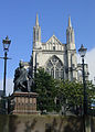 Robert Burns and St Paul's Anglican Cathedral, Dunedin.jpg