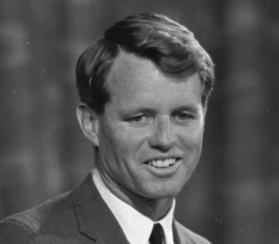 Robert F. Kennedy appearing before Platform Committee, August 19, 1964 (cropped1)