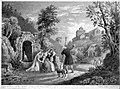 Robert Jacob Hamerton (um 1810-1904), Der Weg in´s Kloster, Lithographie, D2386-10.jpg