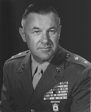 Robert O. Bare - Robert O. Bare as Major general, USMC