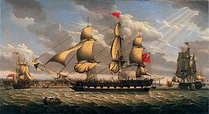 Robert Salmon - British Merchantman in the River Mersey off Liverpool.jpg