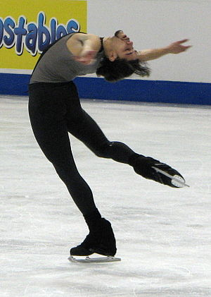 Rohene Ward - Ward performs a layback spin in 2008.