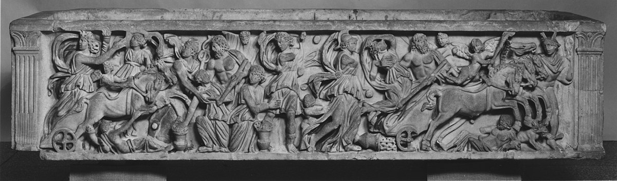 File:Roman - Sarcophagus with the Abduction of Persephone ...