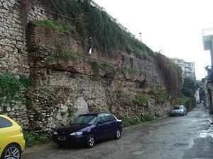 History of Patras - Roman retaining wall, Tsamadou street