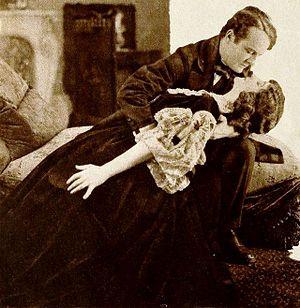 Edward Sheldon - Basil Sydney and Doris Keane in the film ''Romance'' (1920)