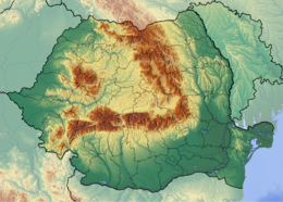 Romania location map Topographic.png