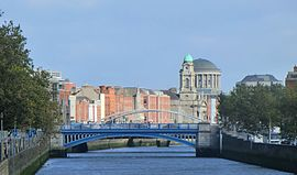 View of Rory O'More Bridge from Frank Sherwin Bridge