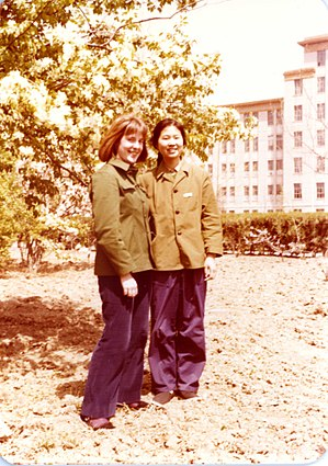 Rose Kerr (art historian) - Rose Kerr in China during the Cultural Revolution circa 1975