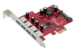 USB 3.0 - A USB 3.0 controller in form of a PCI Express expansion card