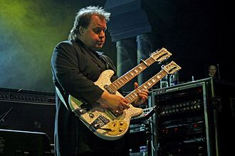Steve Rothery - Steve Rothery onstage with Marillion at their 2009 weekend festival in Montreal, Canada.