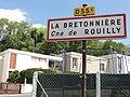 Rouilly (Seine-et-Marne) city limit sign La Bretonnière.jpg
