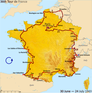 Route of the 1949 Tour de France.png